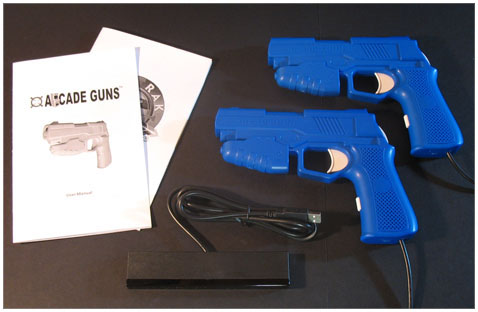 Dual Arcade Guns� PC Light Gun Kit (Blue)