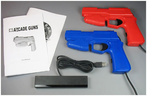 Dual Arcade Guns� PC Light Gun Kit (Blue & Red)