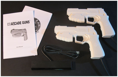Dual Arcade Guns� PC Light Gun Kit (White)