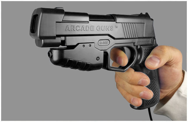 Dual Arcade Guns v2.0 Black/Black Gun Kit - Click Image to Close