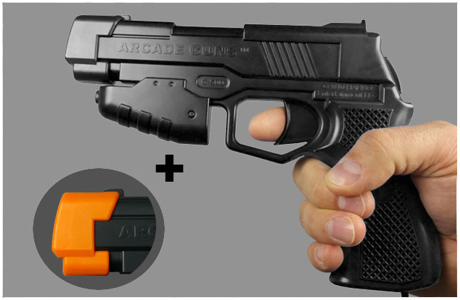Single Arcade Guns v2.0 Black Gun Kit