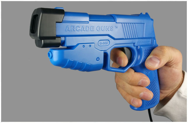 Dual Arcade Guns v2.0 Blue/Red Gun Kit