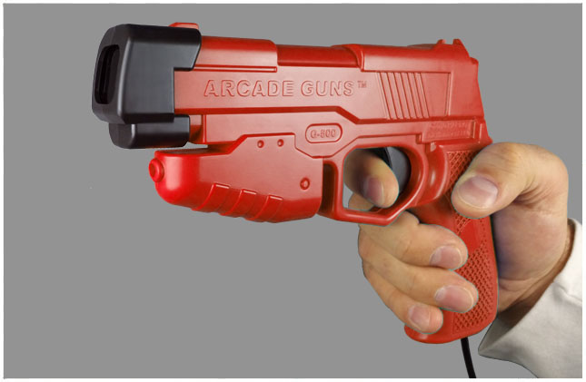 Dual Arcade Guns v2.0 Blue/Red Gun Kit - Click Image to Close