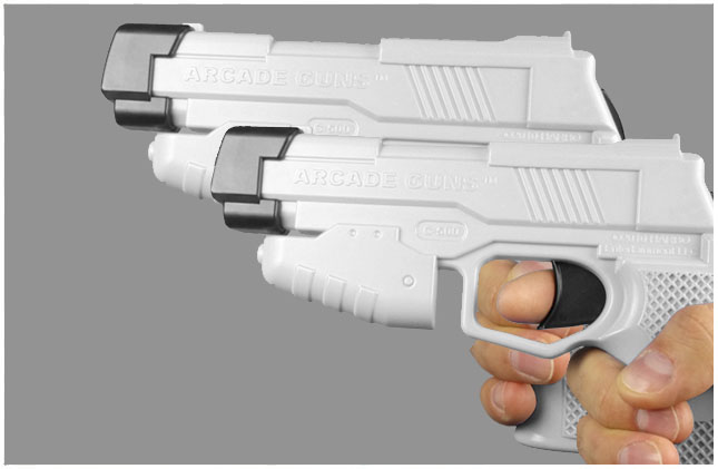 Dual Arcade Guns v2.0 White/White Gun Kit