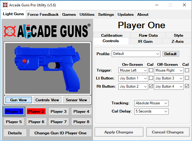Arcade Guns Pro Utility Software