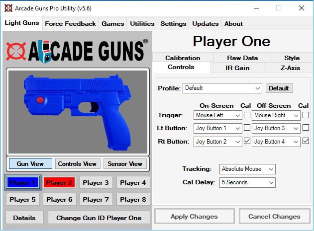 Single Arcade Guns v2 0 Black Gun Kit [V2-BLACK-G500